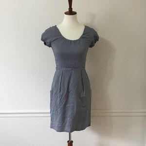J. CREW Seeesucker Cap Sleeve Fitted Dress